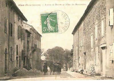 Cartes postales anciennes Avenue de Martres et Allées des Maronniers