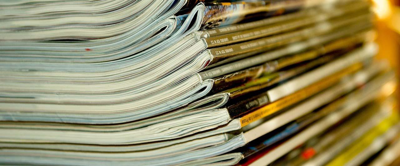 Journaux pour présenter la page Publications