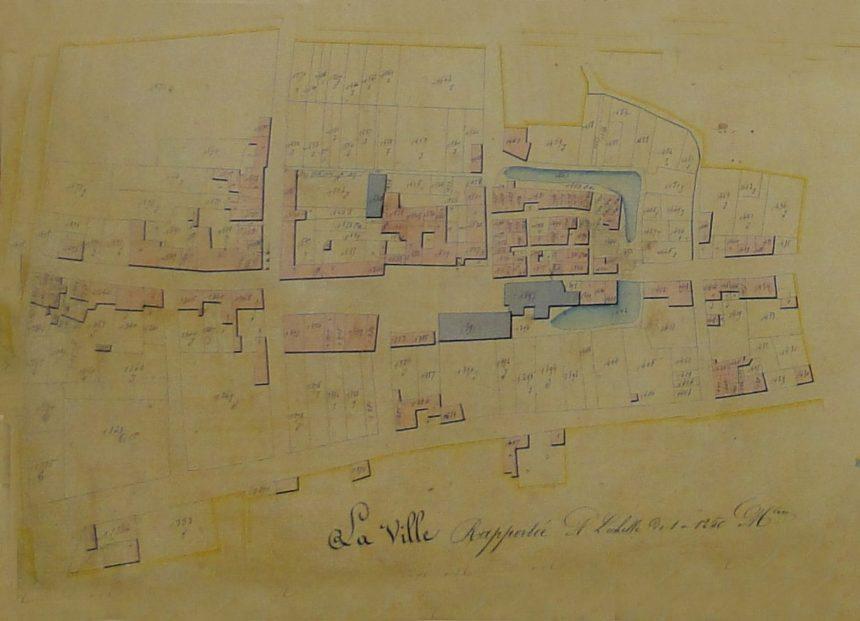 Plan cadastre de la ville en 1820
