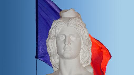 Image présentant le drapeau français avec une Marianne pour représenter la République Française