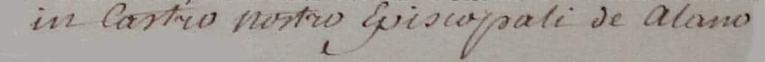 Inscription sur acte de décès Evêque