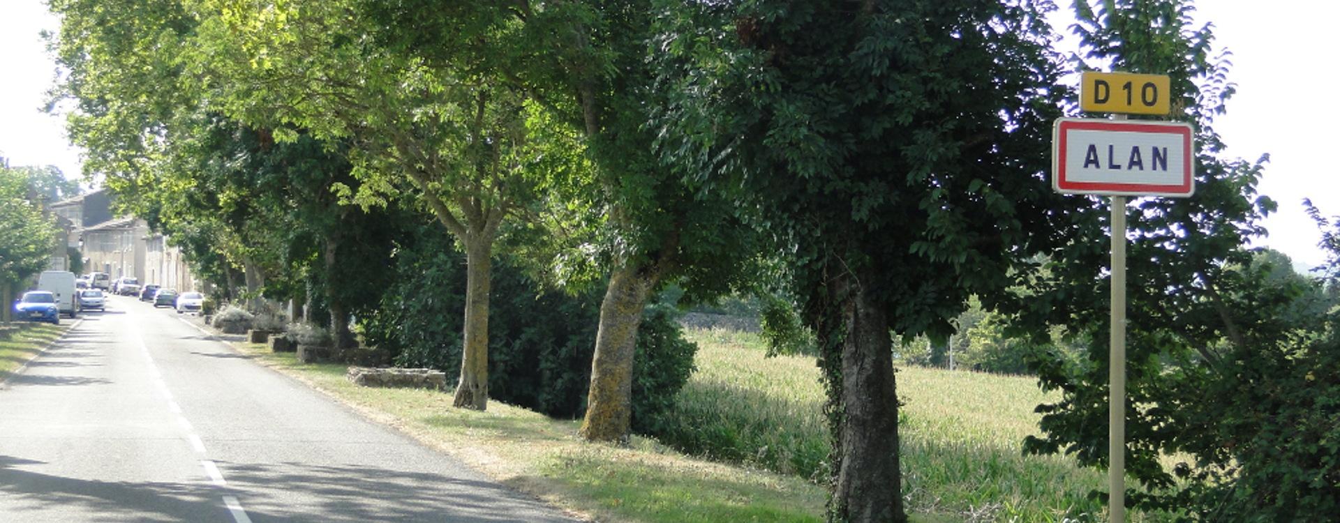 Image présentant l'entrée d'Alan en venant d'Aurignac