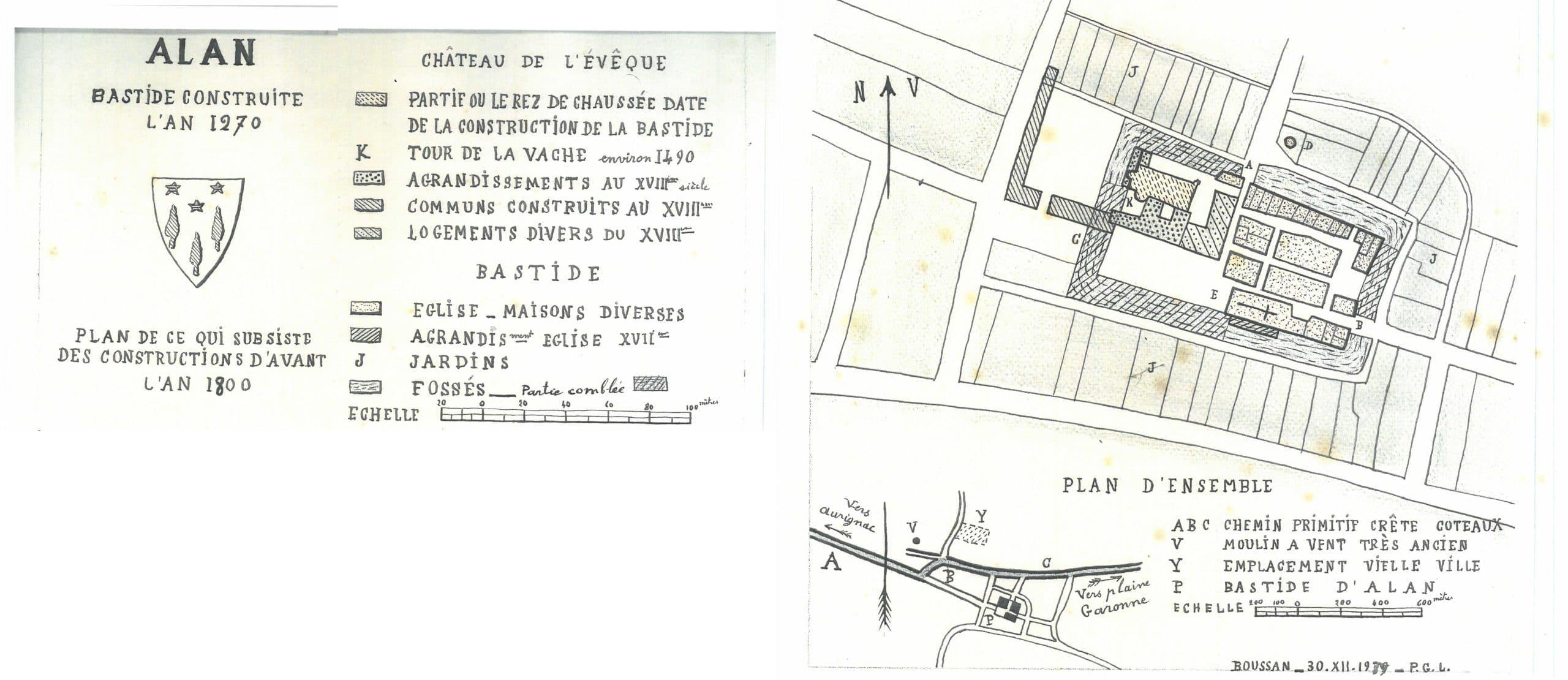Plan des constructions d'avant l'An 1800