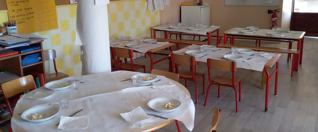 Présentation du restaurant scolaire où déjeunent les enfants